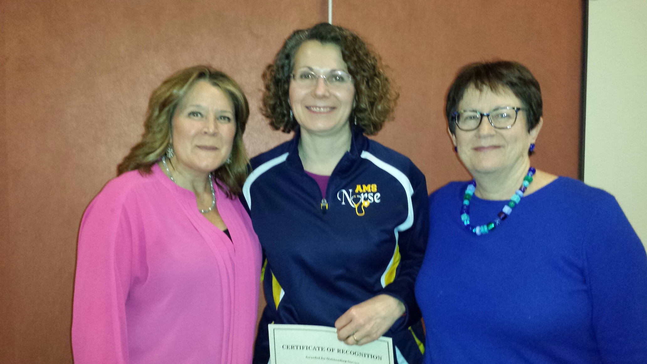 Antoinette Lanoue honored by NYSUT for emergency response.